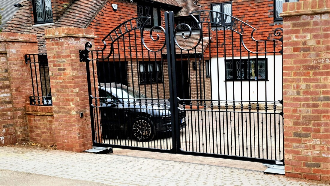 wrought iron entrance gates sussex orig